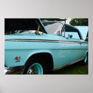 Poster clássico do carro