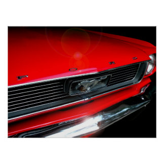 Poster clássico do carro do músculo 60s