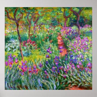 Poster Claude Monet: O jardim da íris em Giverny