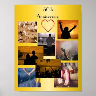 Poster Colagem da foto para o 50th aniversário