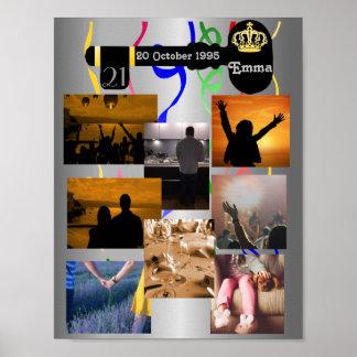Poster Colagem da foto para o partido de aniversário de