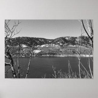 Poster Colorado preto e branco
