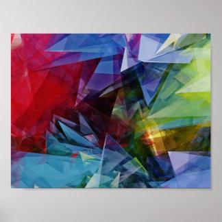 Poster colorido da imagem do abstrato 3D