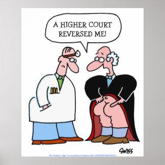 Poster cómico do escritório de advogados