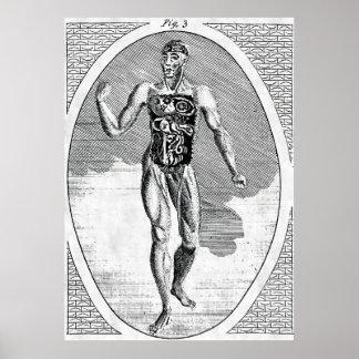 Poster contaminado do homem