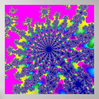 Poster cor-de-rosa da explosão do arco-íris