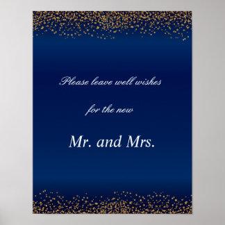 Póster Costume - os confetes & os azuis marinhos do ouro