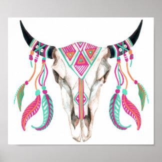 Poster Crânio da vaca com coletores ideais