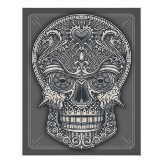 Poster Crânio mortal do amor