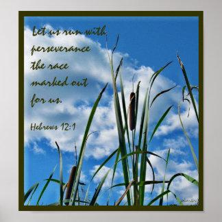 Poster cristão da natureza da perseverança pôster