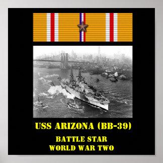 POSTER DA ARIZONA DE USS (BB-39)