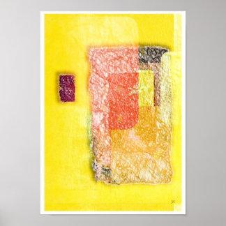 Poster da arte abstracta da entrada