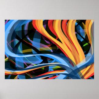 Poster da arte abstracta da génese -