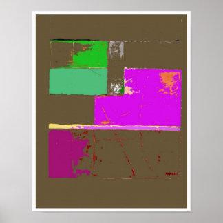 Poster da arte abstracta da paz