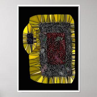 Poster da arte abstracta da romã