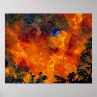 Poster da arte abstracta de CricketDiane - chamas