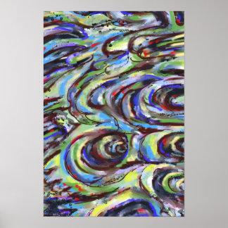 Poster da arte abstracta dos redemoinhos