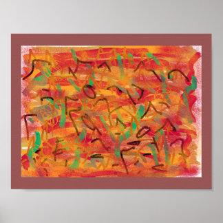 Poster da arte abstracta pôster