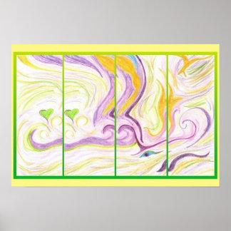 Poster da arte - amor do espírito - arte abstracta pôster