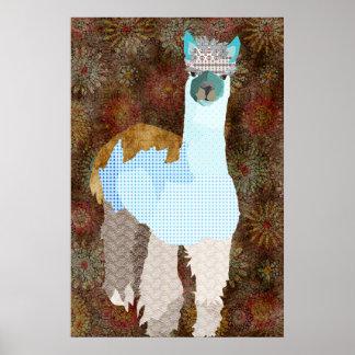 Poster da arte da alpaca de Abby
