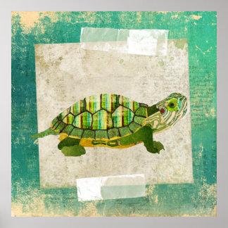 Poster da arte da tartaruga do jade