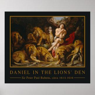 Poster da arte do antro dos leões'