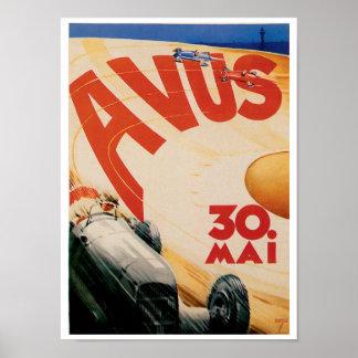 Poster da arte do anúncio do vintage do automóvel