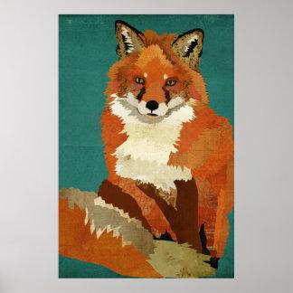 Poster da arte do Fox vermelho