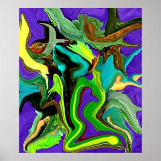 Poster da arte do Pintura-Abstrato de Digitas