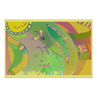 Poster da arte - étnico - arte abstracta pôster