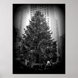Poster da árvore de Natal de Rockefeller Pôster