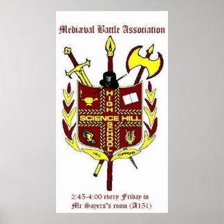 Poster da associação da batalha de Mediæval