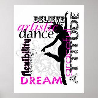 Poster da atitude da dança