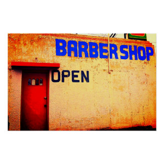 Poster da barbearia