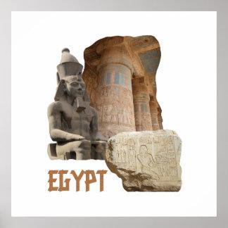 Poster da colagem da foto de EGIPTO