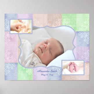Poster da colagem da foto do bebé