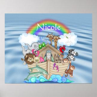 Poster da DECORAÇÃO do BERÇÁRIO do arco-íris da AR