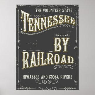 Poster da estrada de ferro do vintage de Tennessee