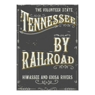 Poster da estrada de ferro do vintage de Tennessee Convite 11.30 X 15.87cm