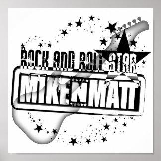 Poster da estrela do rock and roll de MikeNMatt Pôster