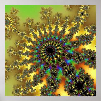 Poster da explosão do Fractal do raio de sol