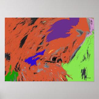 Poster da expressão do abstrato do pop do