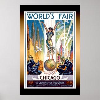 Poster da extra grande da feira de mundo de