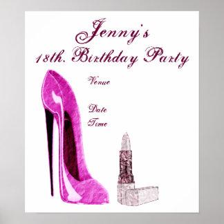 Poster da festa de aniversário pôster
