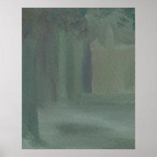 Poster da floresta de CricketDiane - névoa da flor