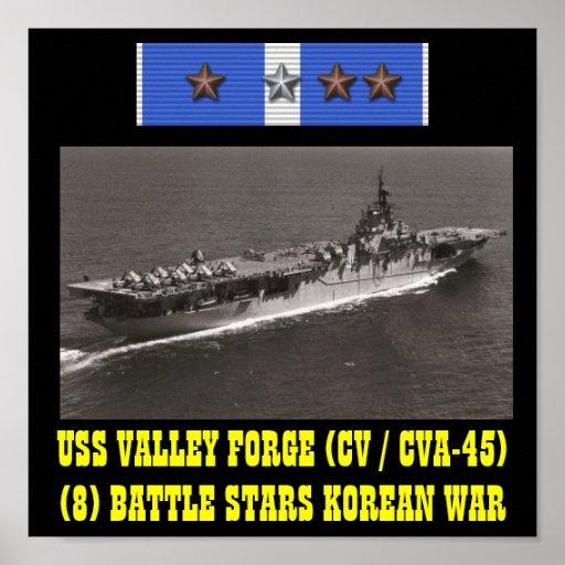 POSTER DA FORJA DO VALE DE USS (CV/CVA-45)