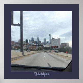 Poster da foto da skyline de Philadelphfia Pôster