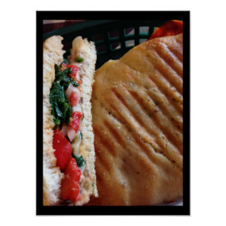 Poster da foto de Panini do vegetariano