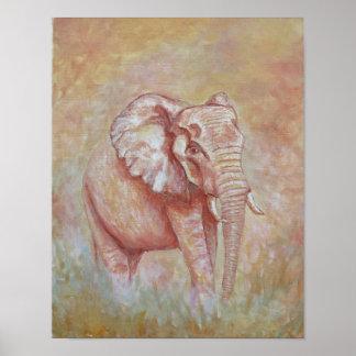 Poster da foto do elefante