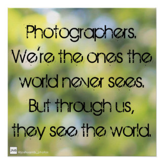 Poster da fotografia poster perfeito